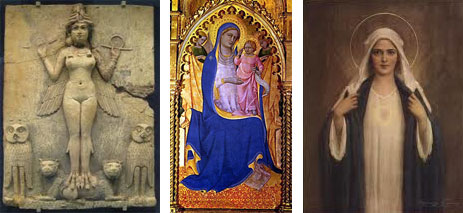 Illustrations: The Burney Relief; Madonna by Don Lorenzo Monaco; Immaculate Heart of Mary by Charles Bosseron Chambers